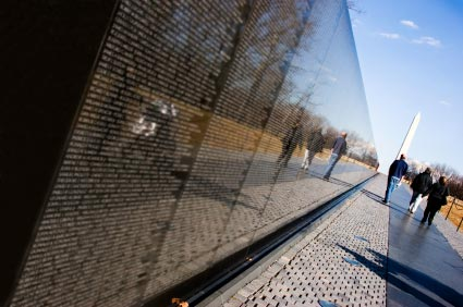 Vietnam War Memorial in Washington, DC